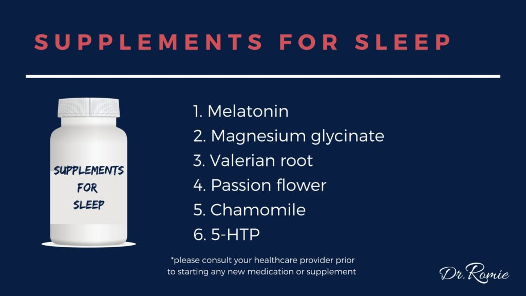 Supplements for Sleep